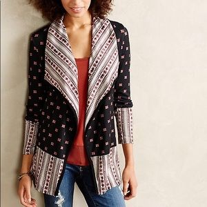 Anthropologie blue and red long sleeve cardigan